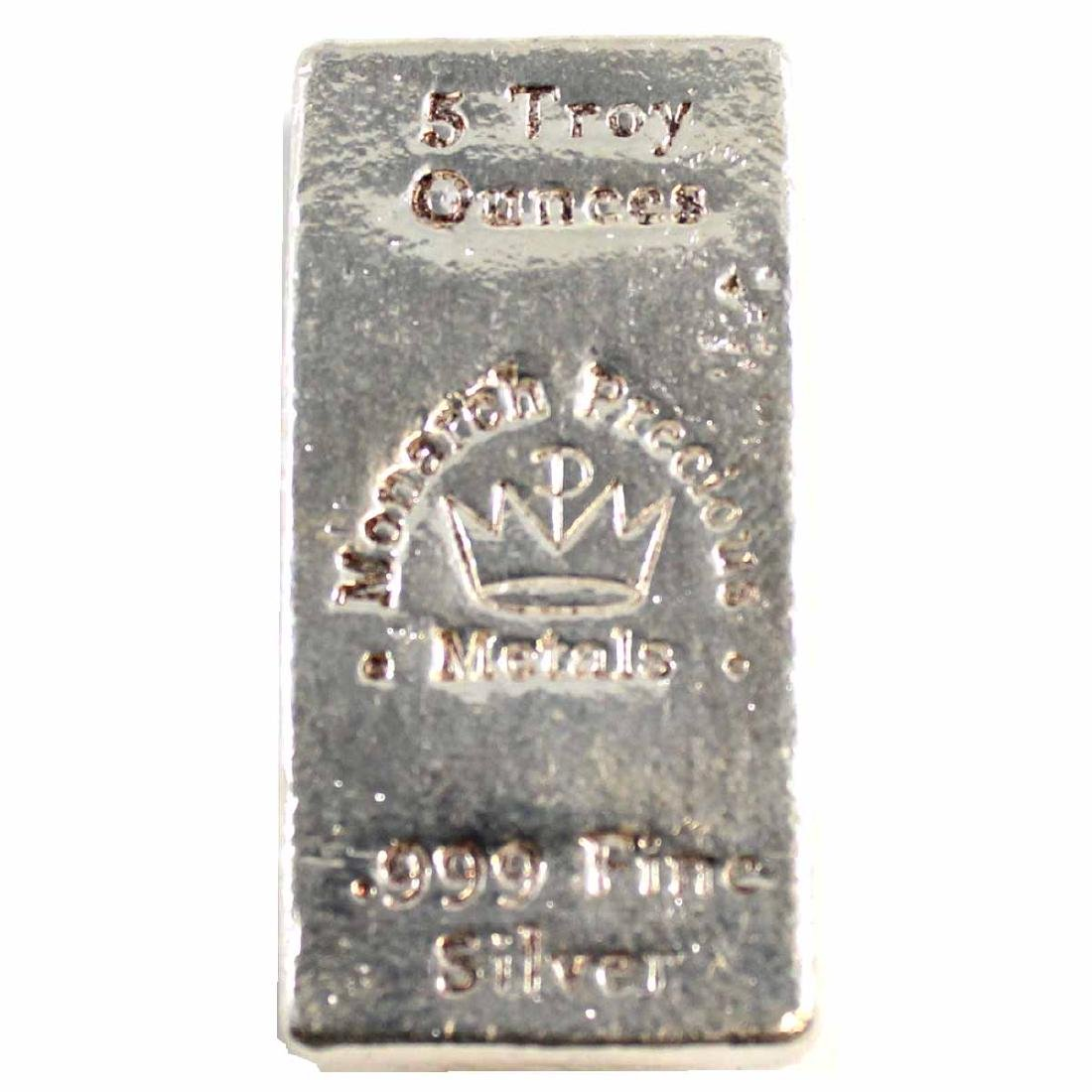 Monarch Precious Metals 5oz Fine Silver Bar (TAX