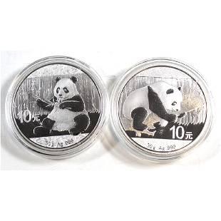 2016 2017 30 gram China Pandas Fine Silver Coins TAX