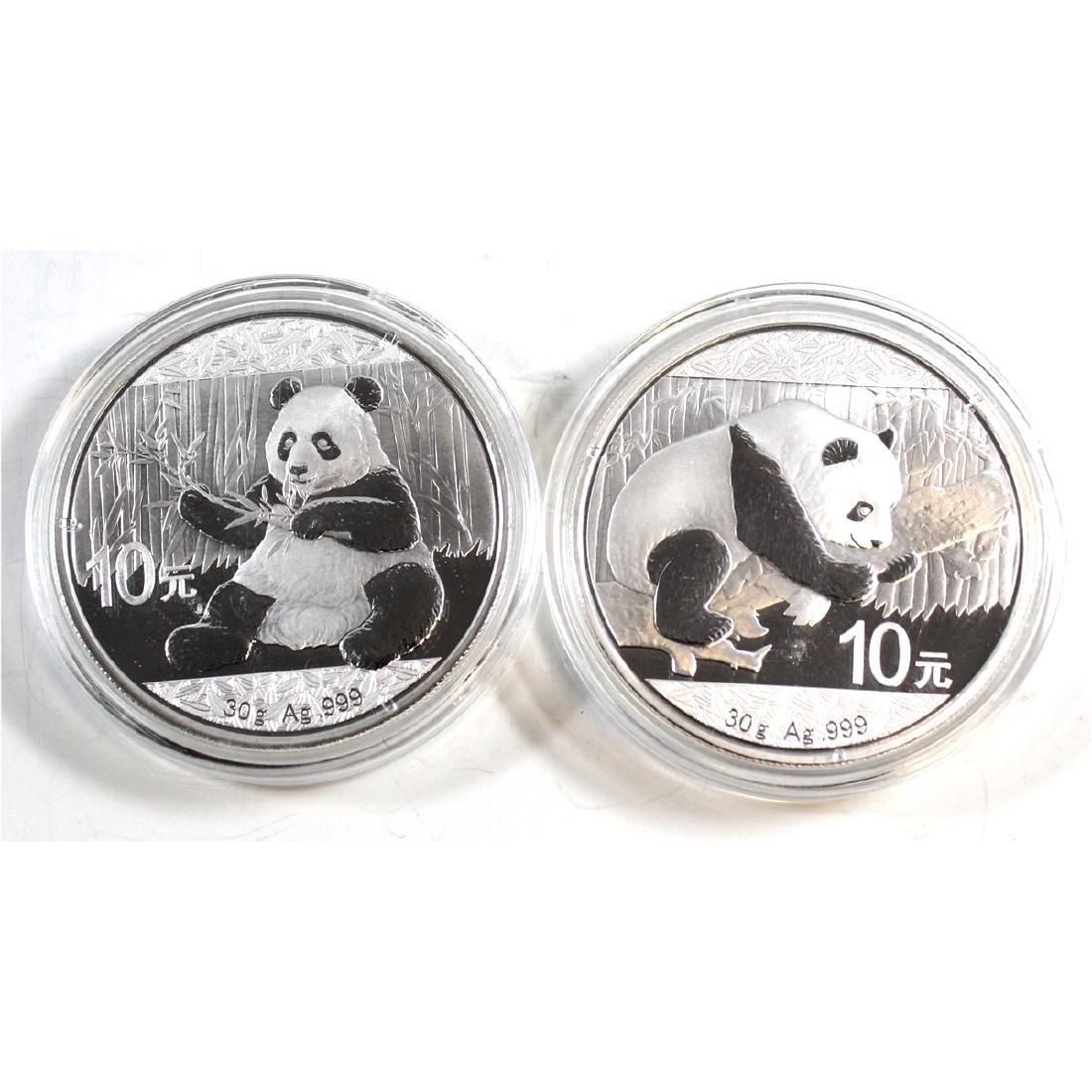 2016 & 2017 30 gram China Pandas Fine Silver Coins (TAX