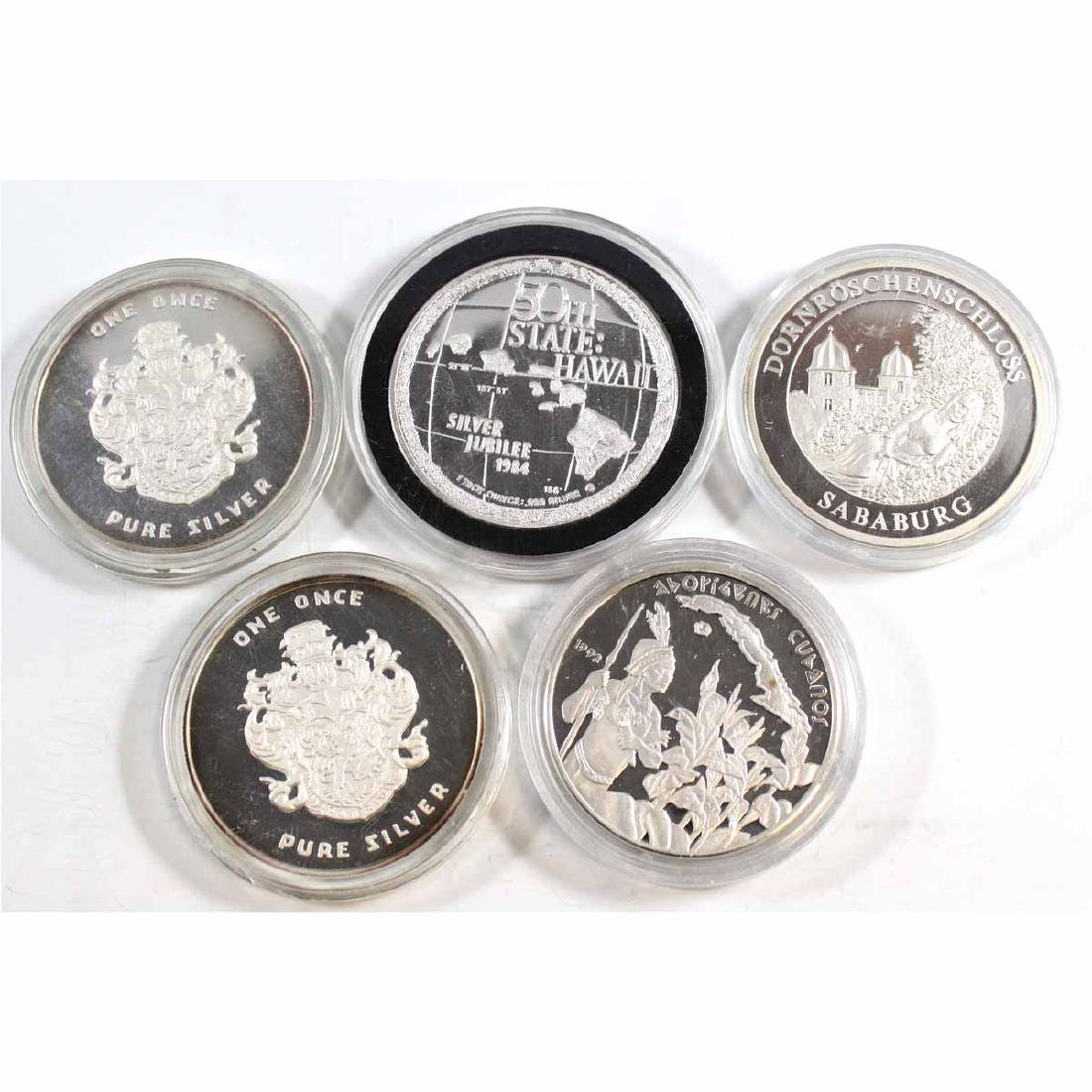 Mixed Lot of 1oz Fine Silver Rounds (TAX Exempt). Coins