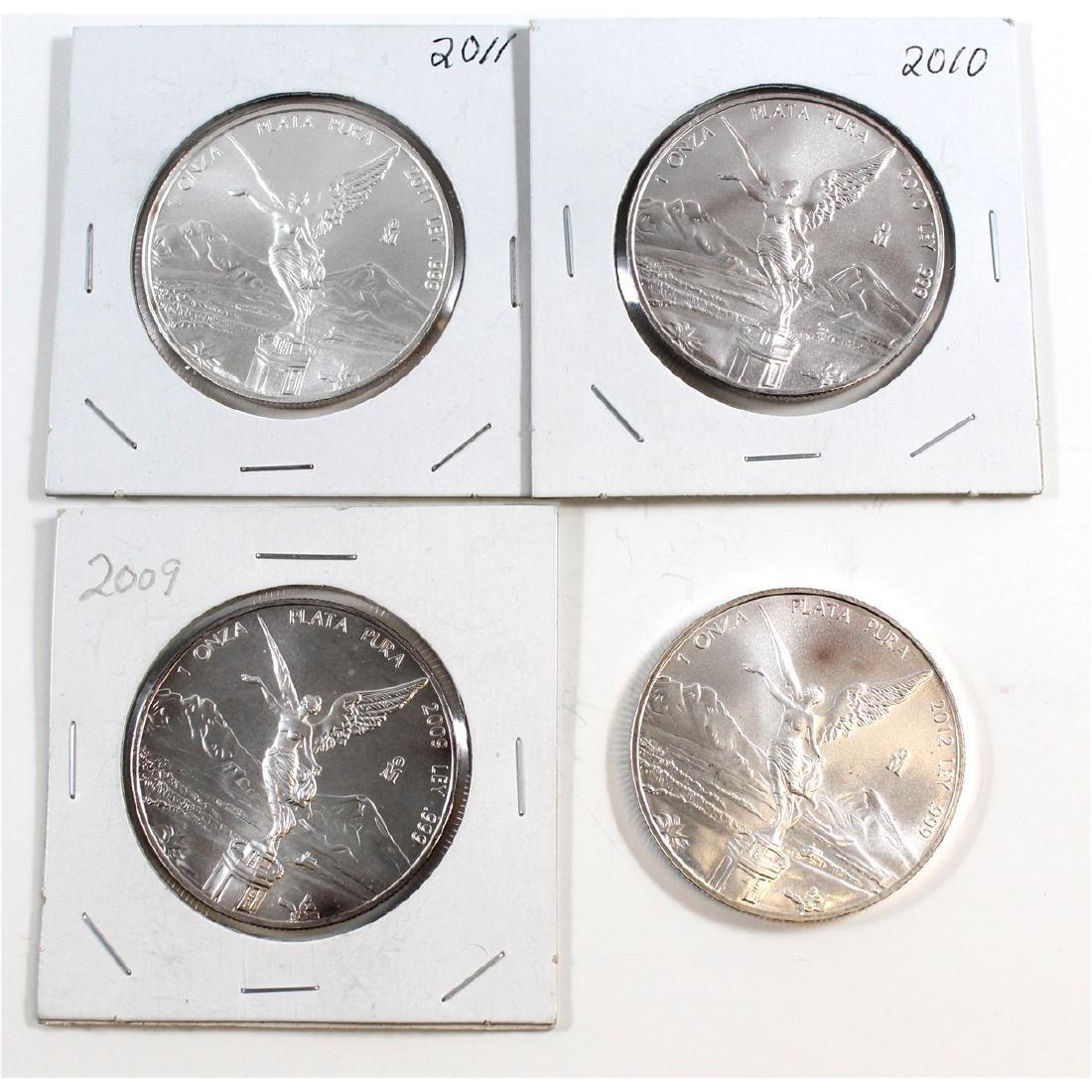 2009-2012 Mexico Libertad 1oz Fine Silver Coins (TAX