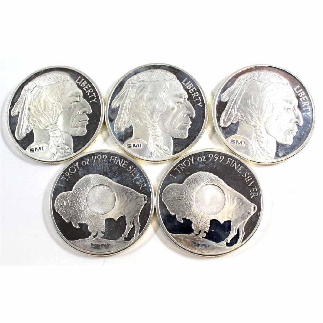Lot of Sunshine 1oz Fine Silver Buffalo Rounds (TAX