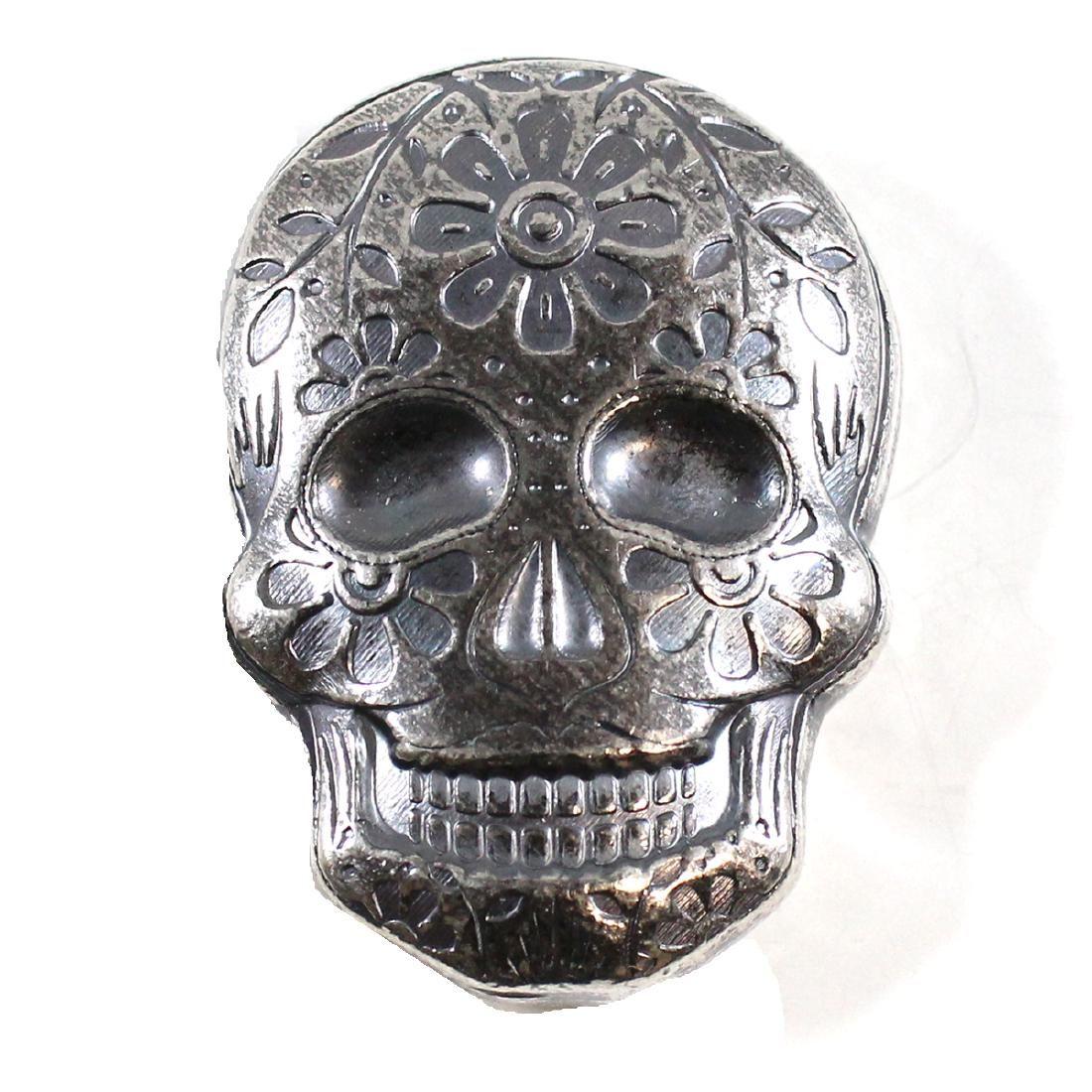 Day of the Dead 2oz Silver Sugar Skull - Monarch