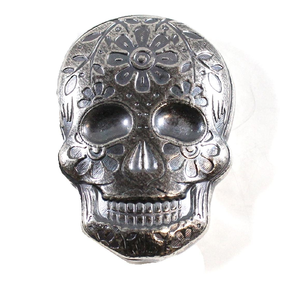 Day of the Dead 2oz Silver Sugar Skull - Monarch