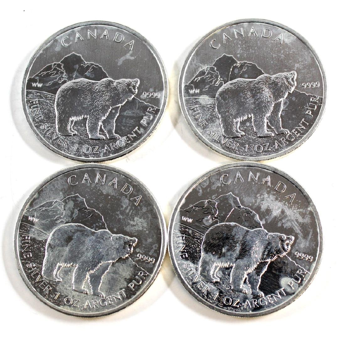 Lot of 2011 Canada $5 Grizzly Silver Maples (TAX