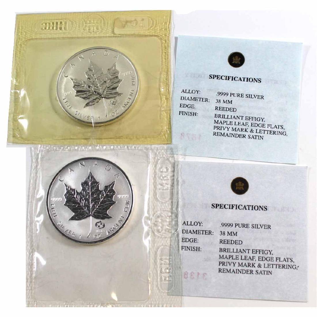 Pair of 2004 Canada $5 Privy Mark 1oz. .999 Silver