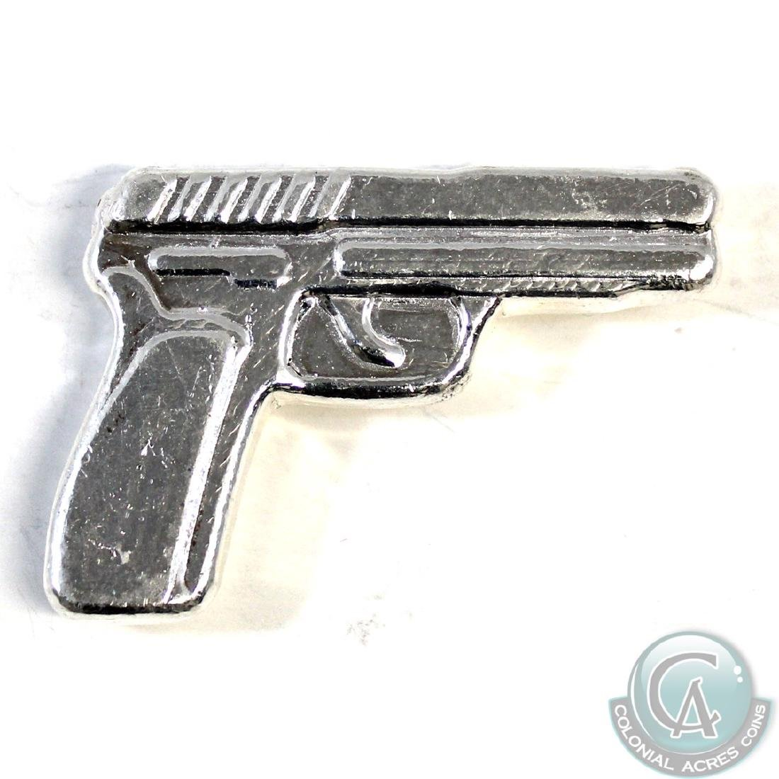 38 Caliber (38 grams) Fine Silver 'Gun' Monarch