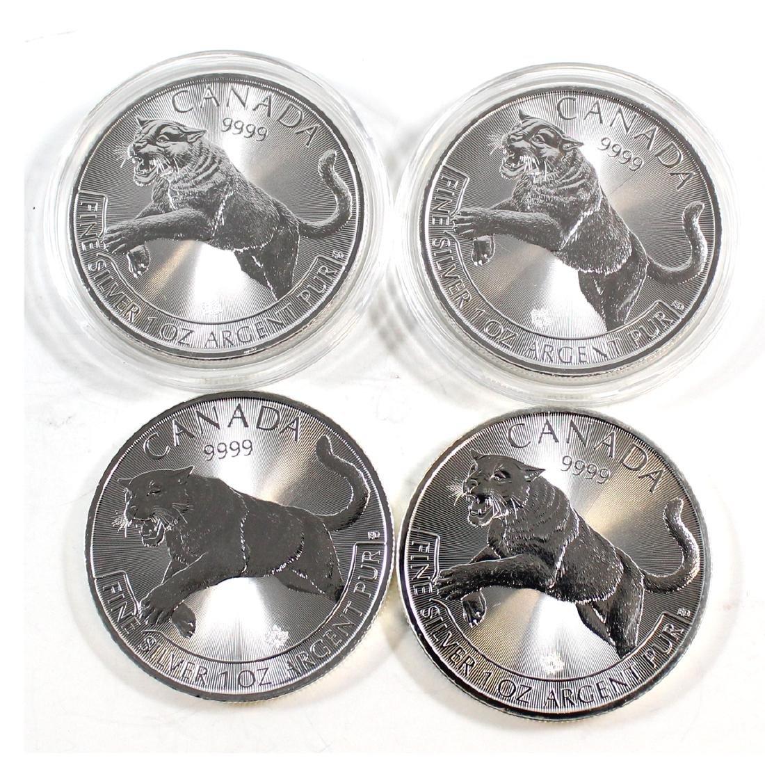 4x 2016 Canada 1oz $5 Cougar: Predator Series - Fine