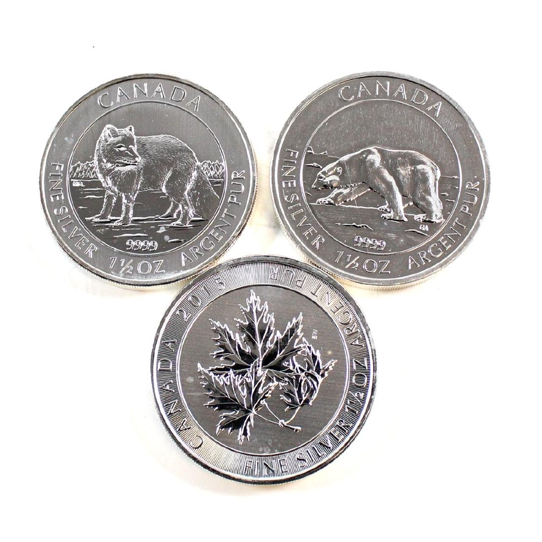 2013 Polar Bear, 2014 Arctic Fox, & 2015 Super Leaf $8