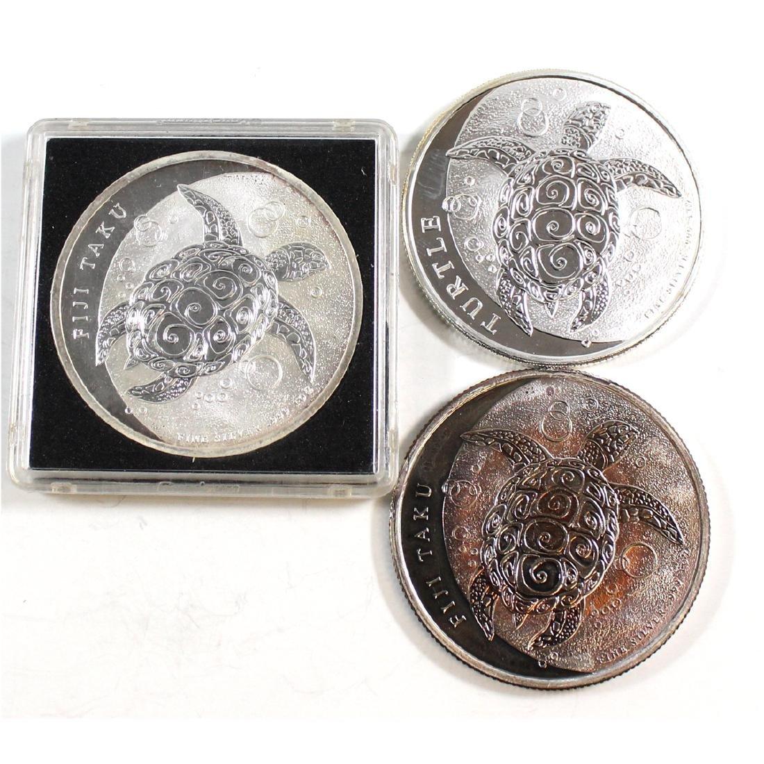 2011, 2012 & 2015 Fiji Turtle 1oz .999 Fine Silver