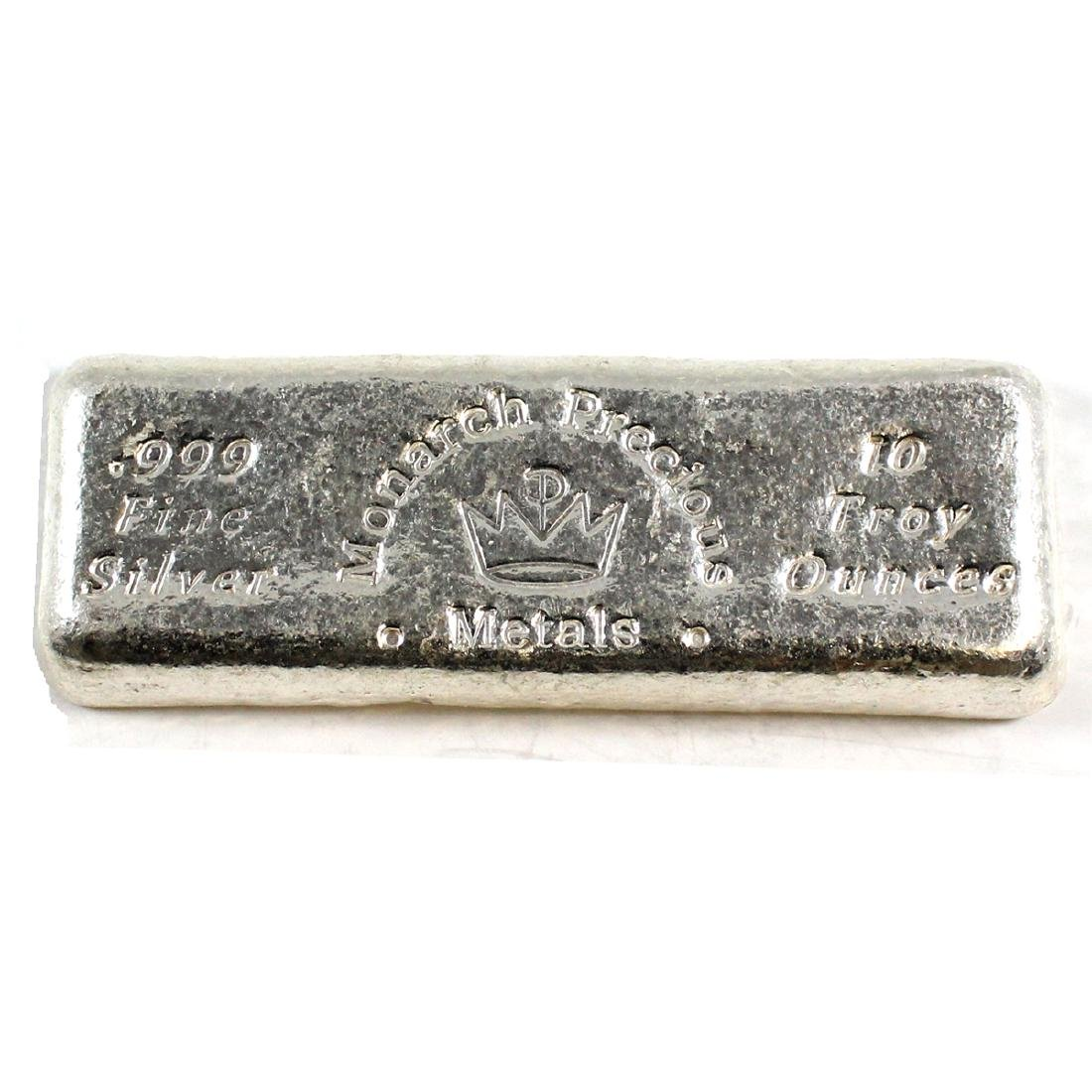 Monarch Precious Metals 10oz .999 Fine bar (TAX