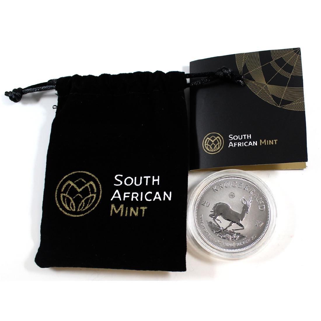 2017 South Africa 1oz Fine Silver Krugerrand (TAX