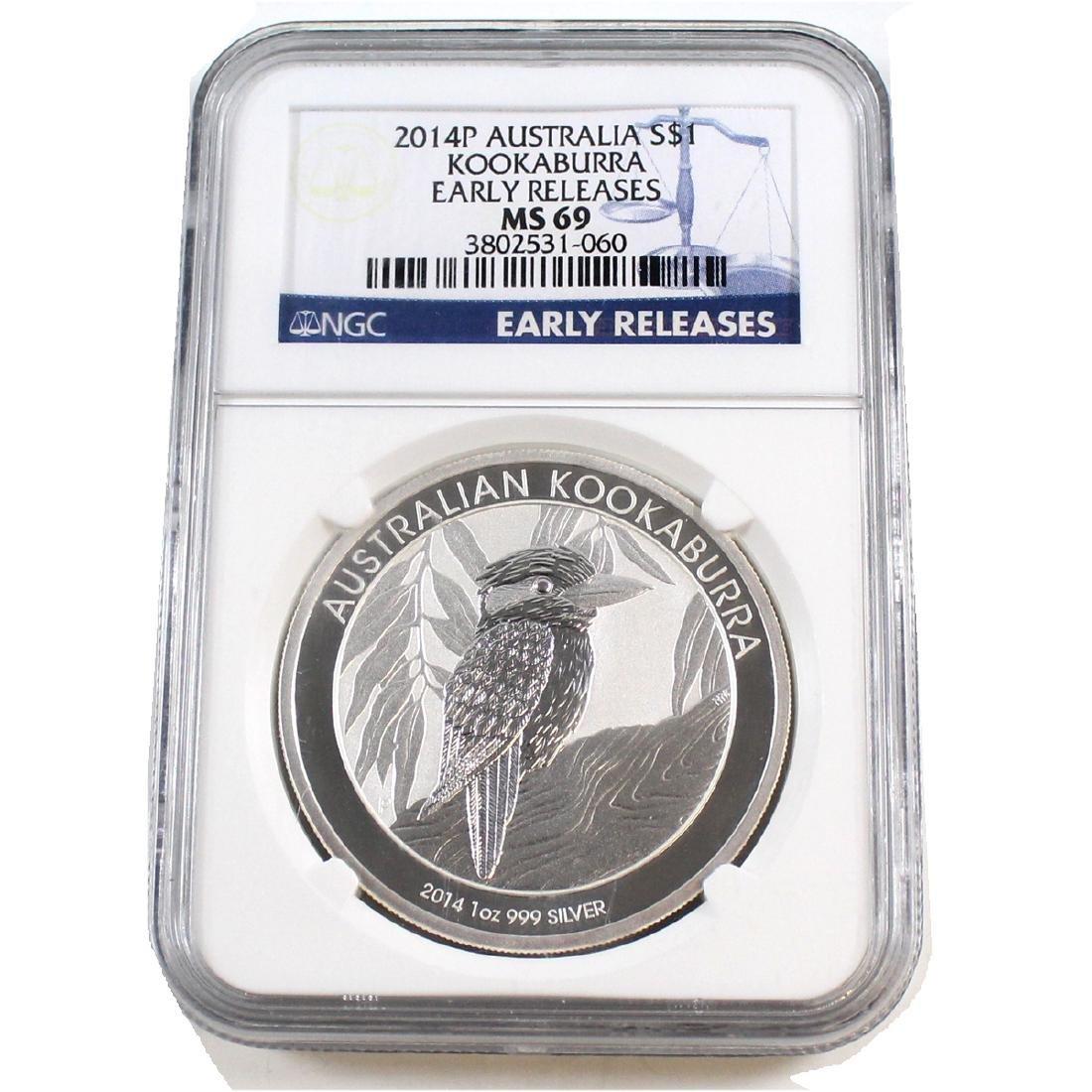 2014P Australia $1 Kookaburra NGC Certified MS-69;