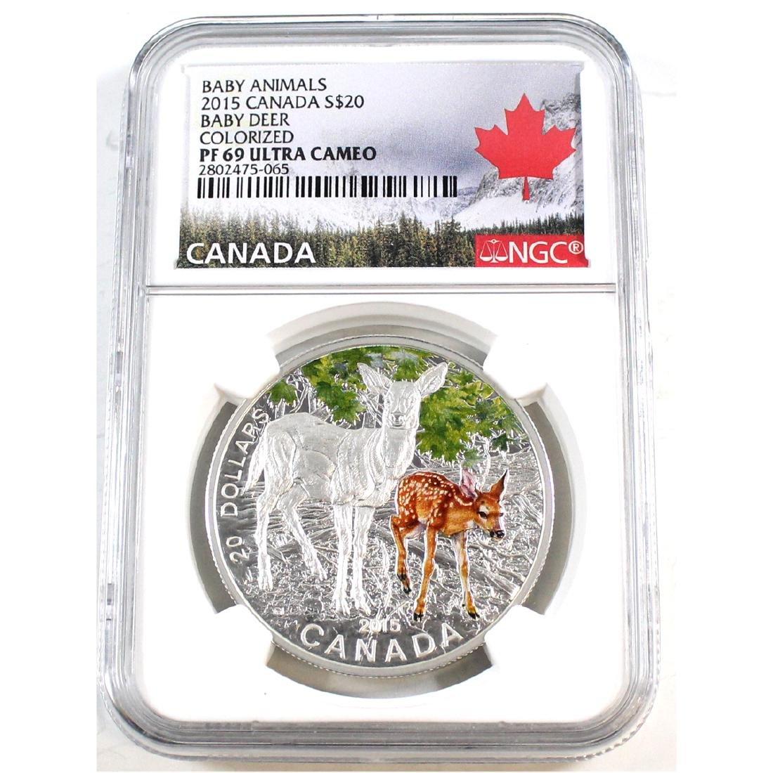 2014 Canada $20 Baby Animals - Baby Deer Fine Silver