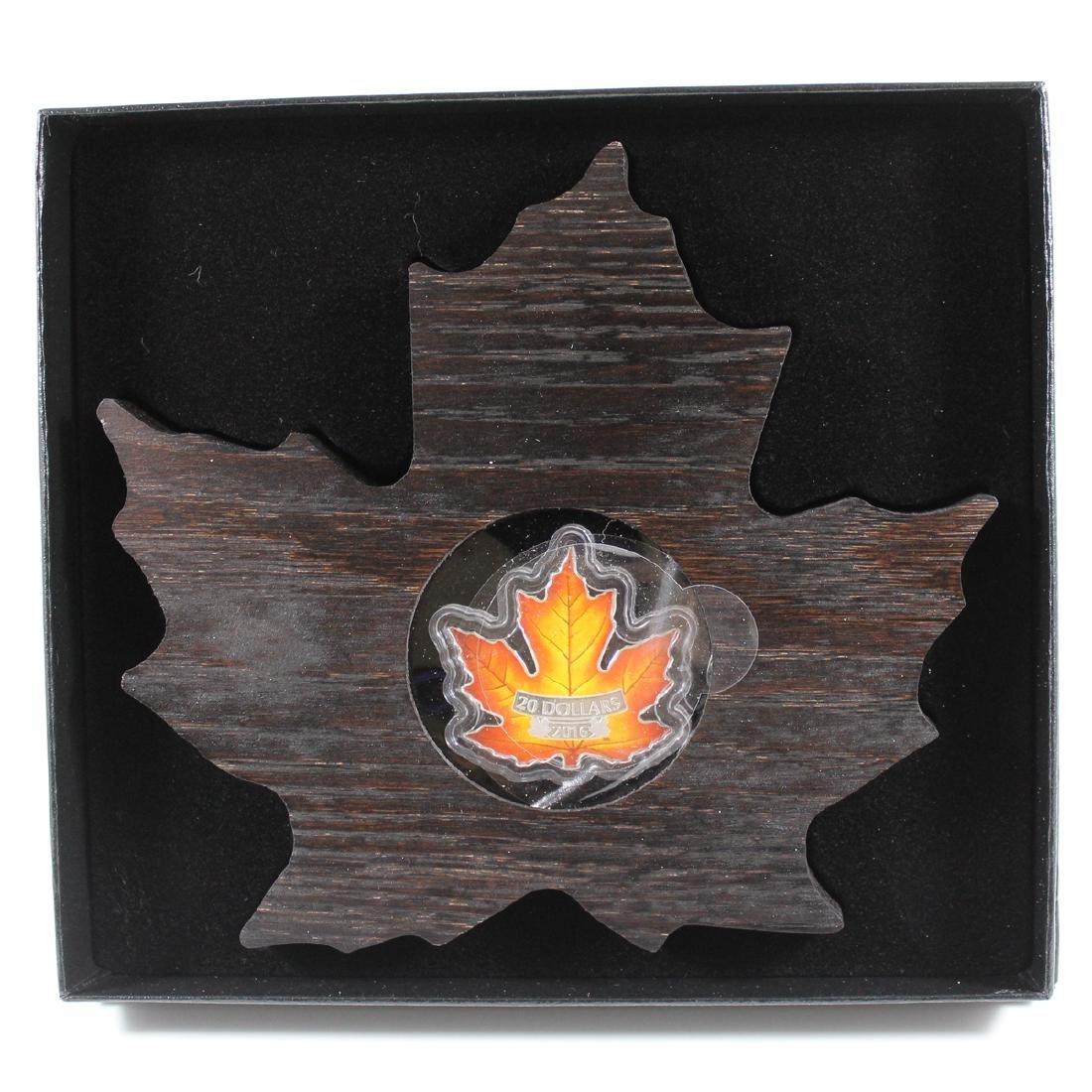 2016 Canada $20 Canada's Colourful Maple Leaf Fine