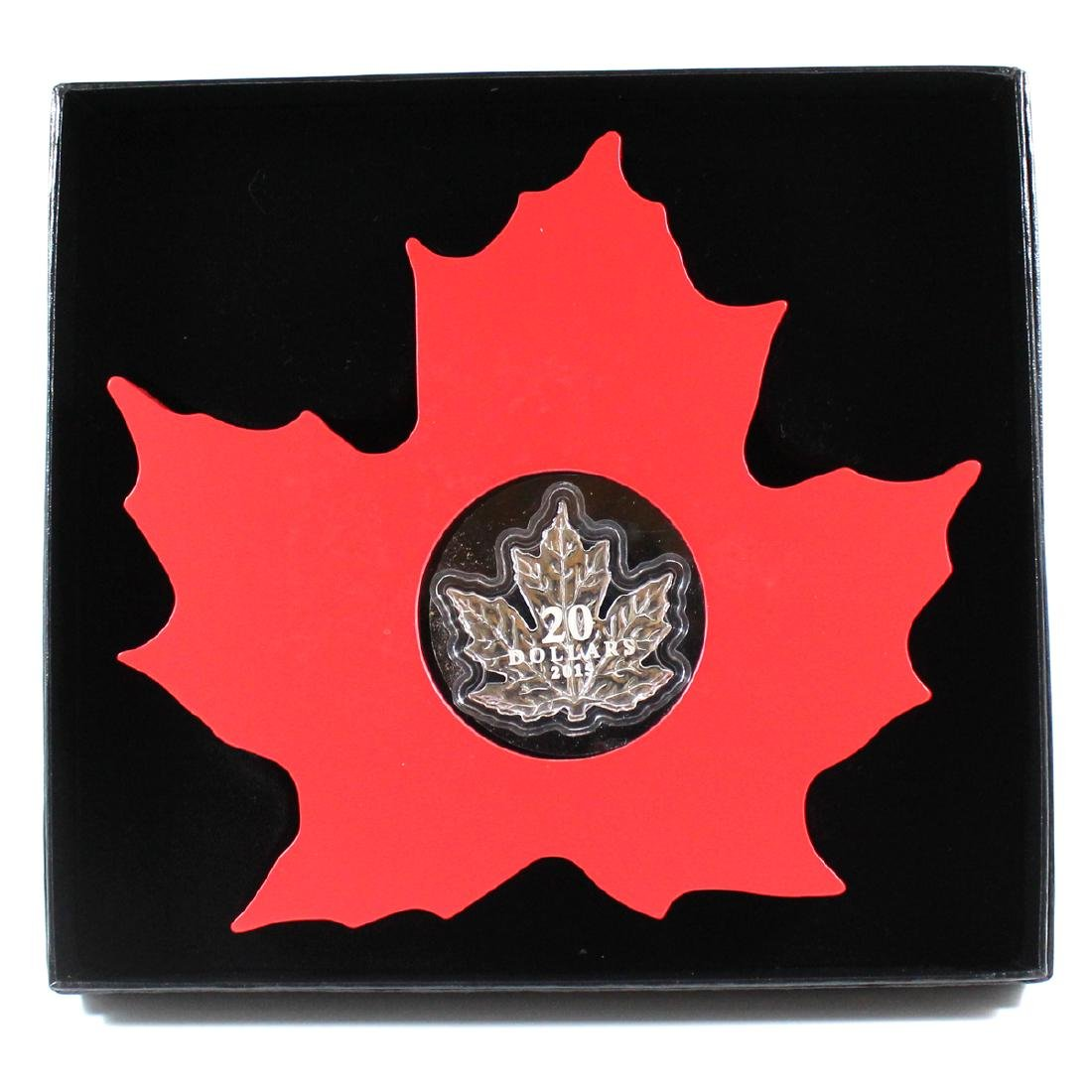 2015 $20 The Canadian Maple Leaf - Maple Leaf Shaped