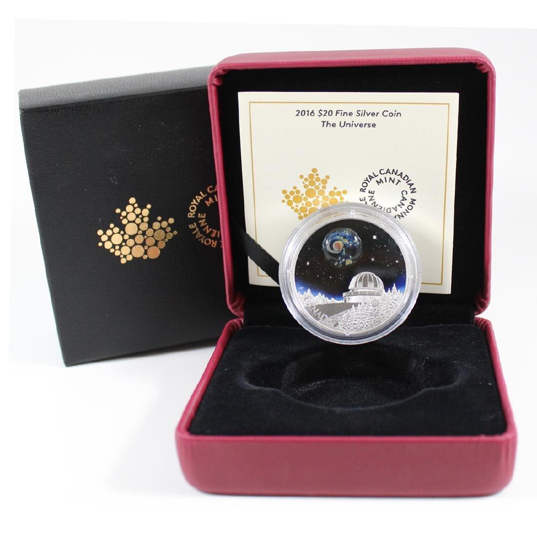 2016 Canada $20 The Universe Fine Silver Coin (TAX