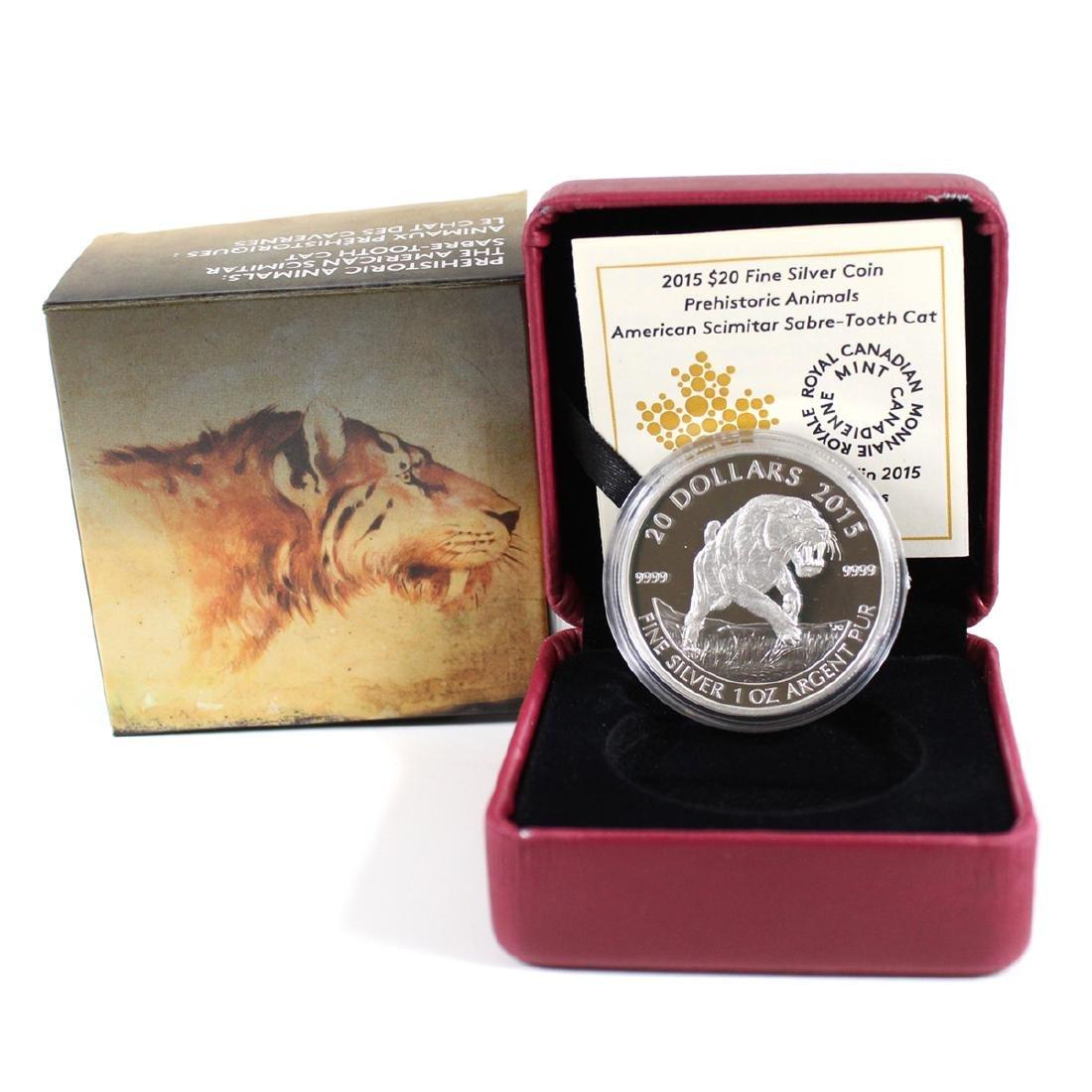 2015 Canada $20 Prehistoric Animals - American Scimitar