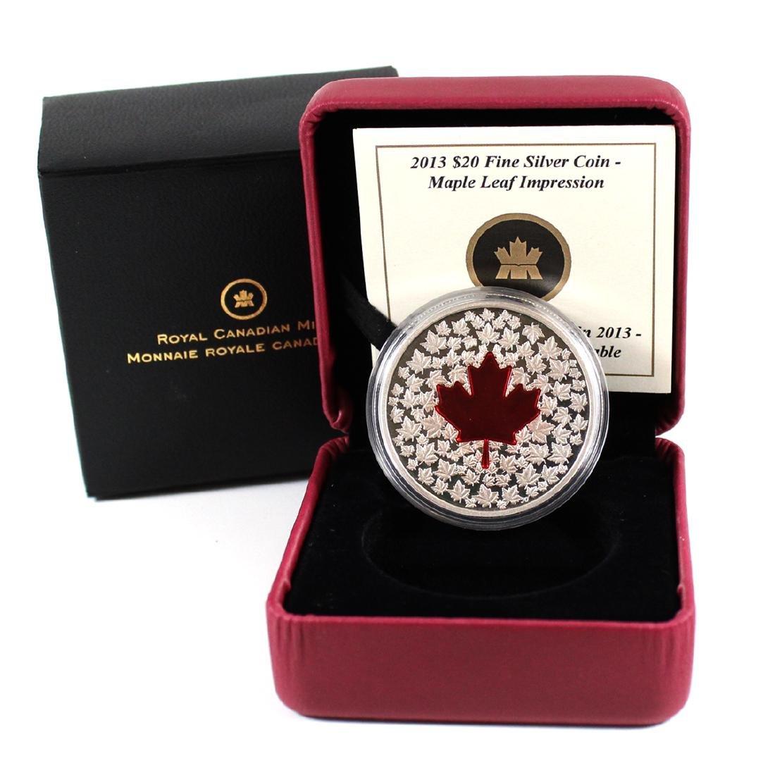 2013 Canada $20 Maple Leaf Impression (Red Enamel)