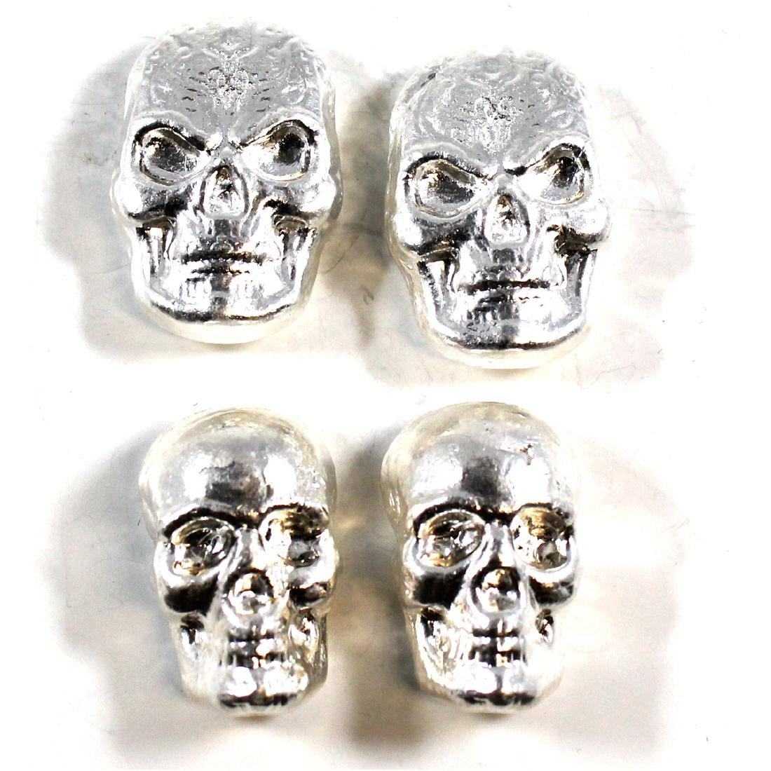 Beaver Bullion SKULL 1oz Fine Silver Collection (TAX