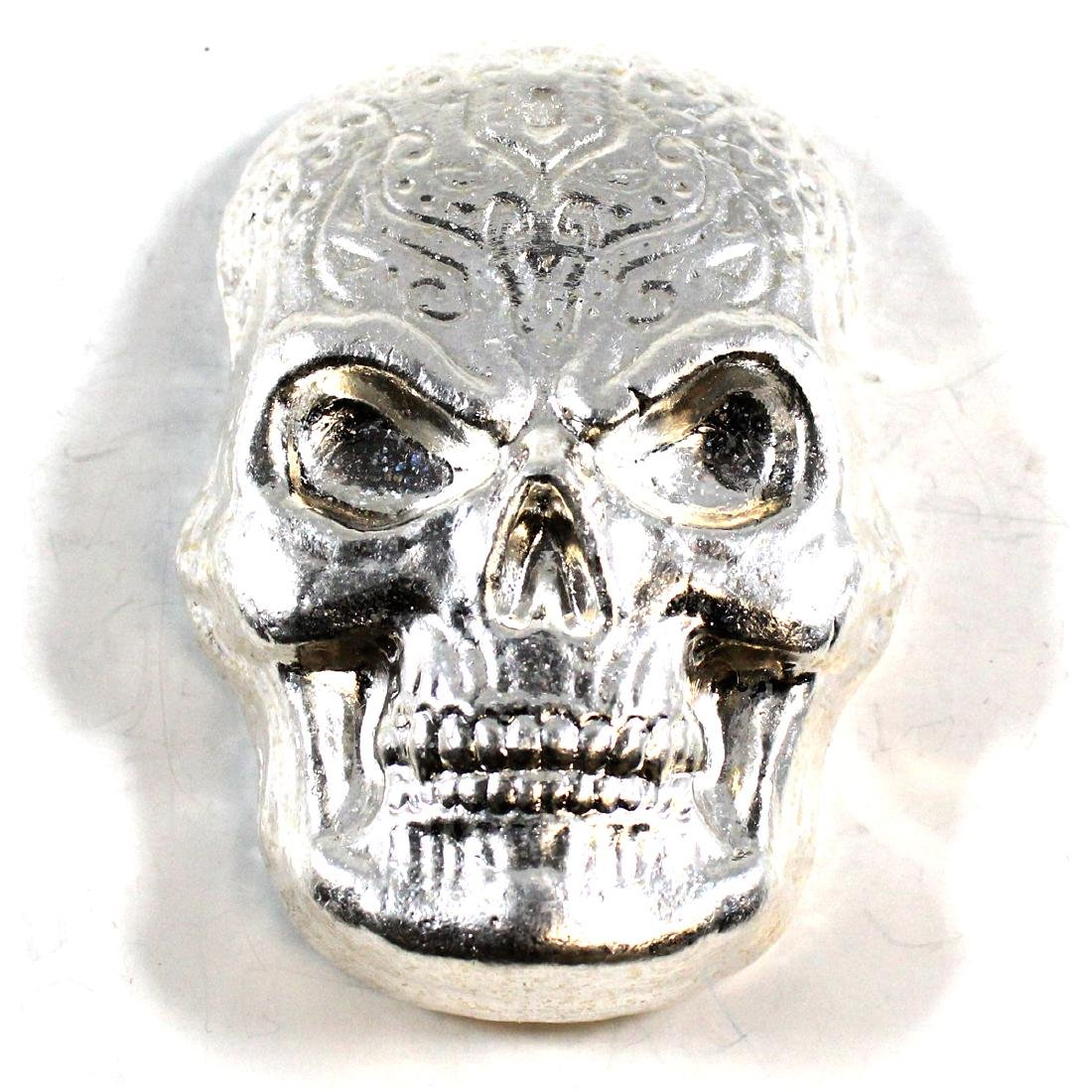 Beaver Bullion SKULL 10oz Fine Silver (TAX Exempt).