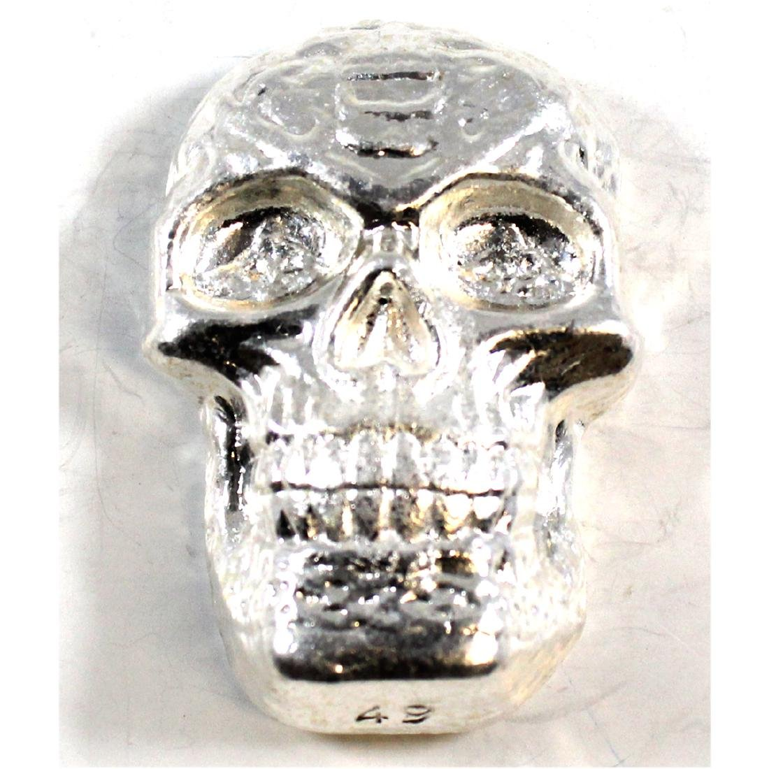 Beaver Bullion SKULL 5oz Fine Silver Celtic  Art Bar