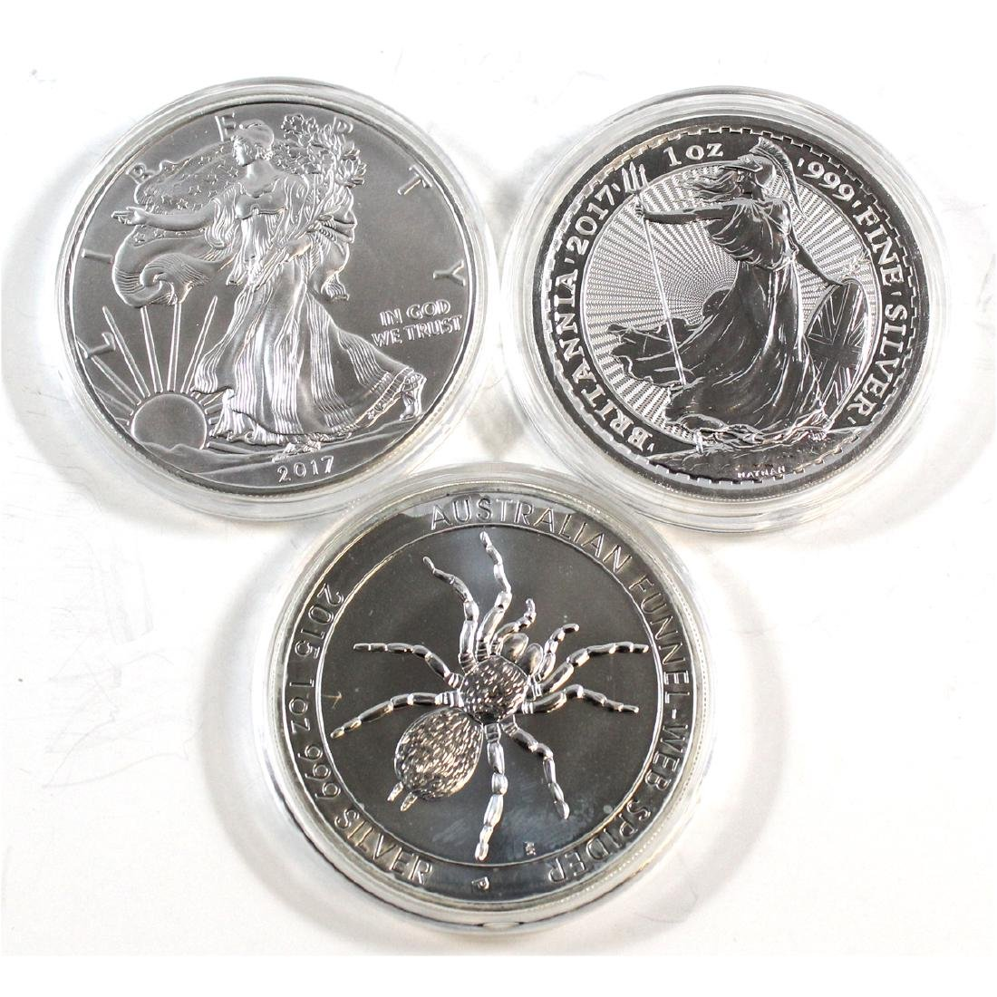 Lot of World 1oz Fine Silver Coins (TAX Exempt). You