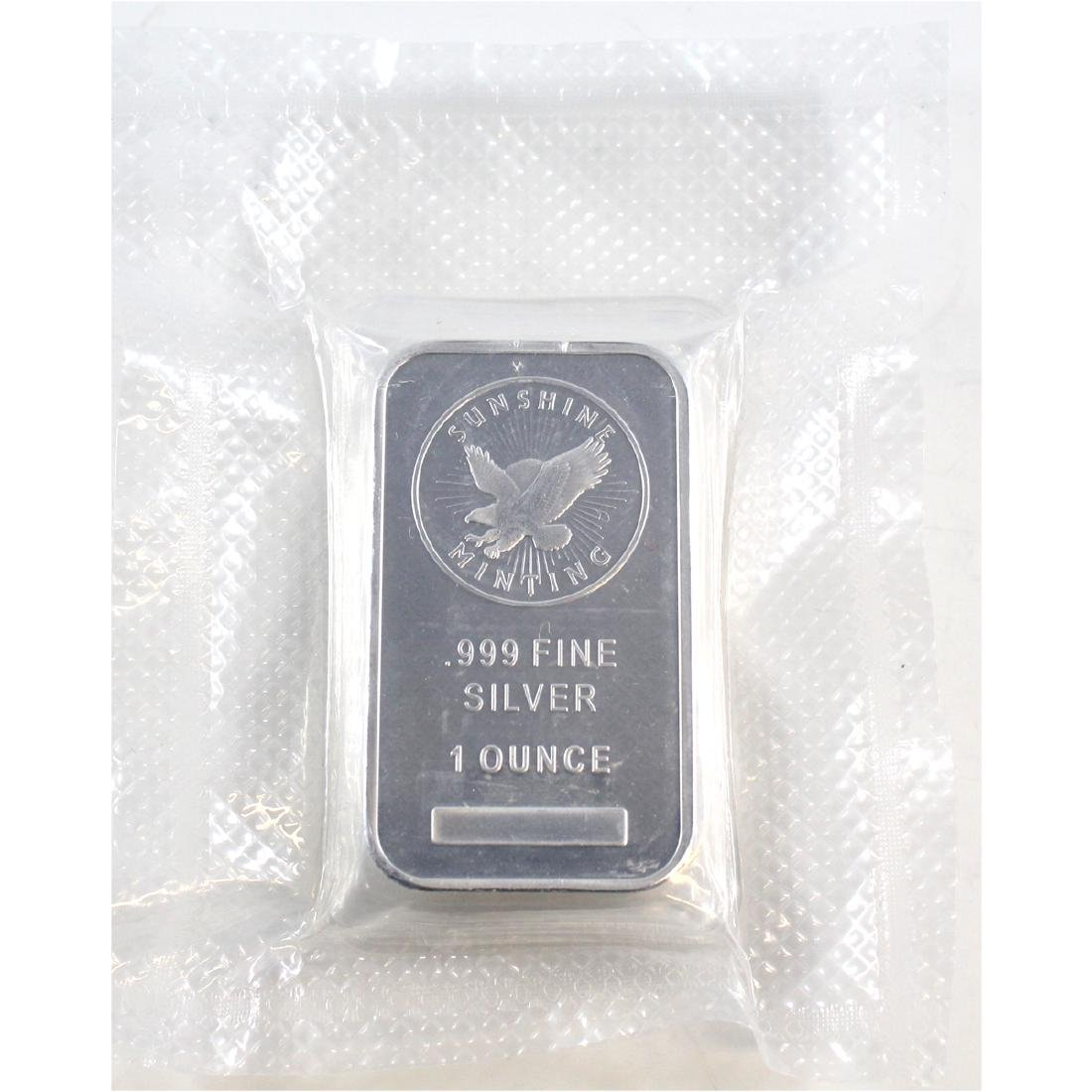 Sunshine 1oz Fine Silver Bars Sealed in Original Wrap
