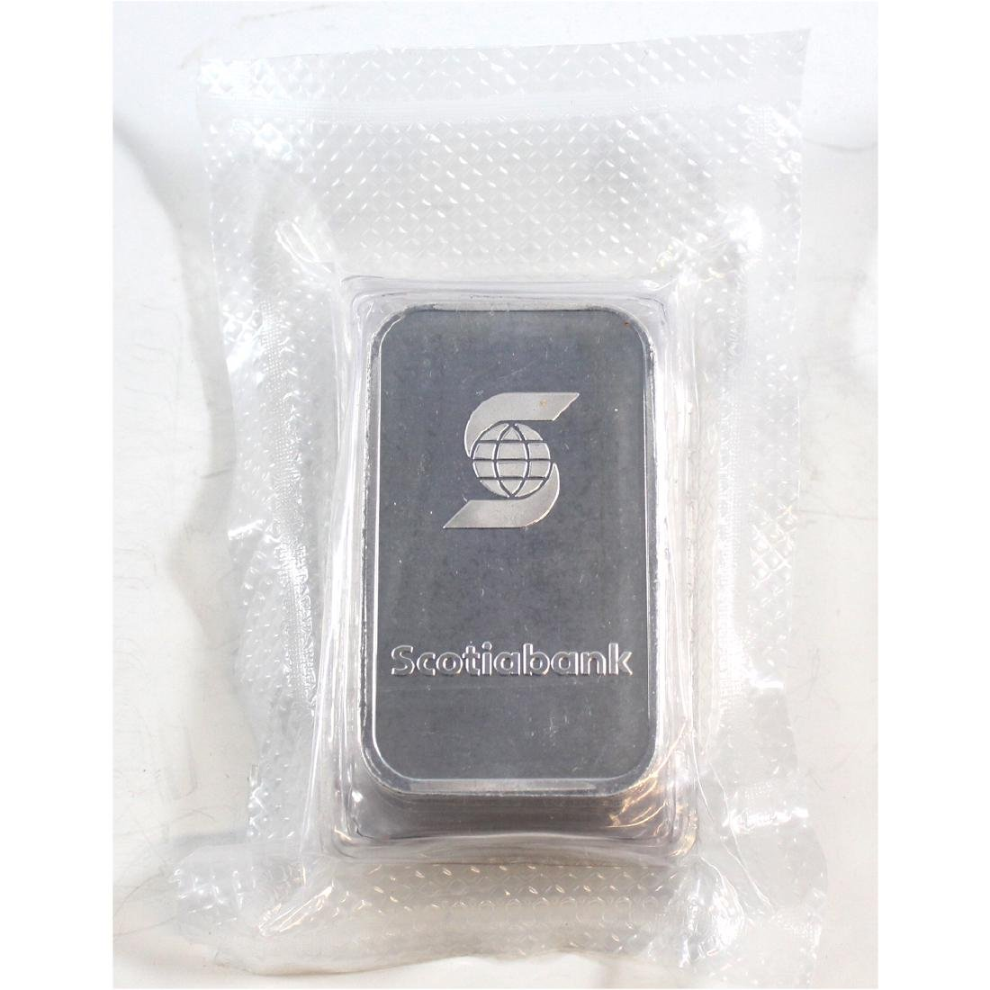 Scotiabank 1oz Fine Silver Bars Sealed in Original Wrap