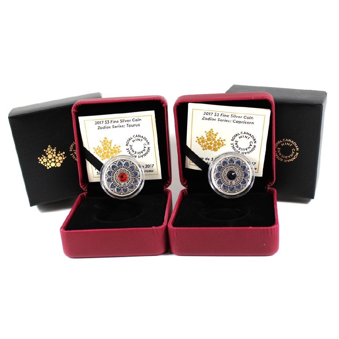 2017 Canada $3 Zodiac Series - Capricorn & Taurus Fine