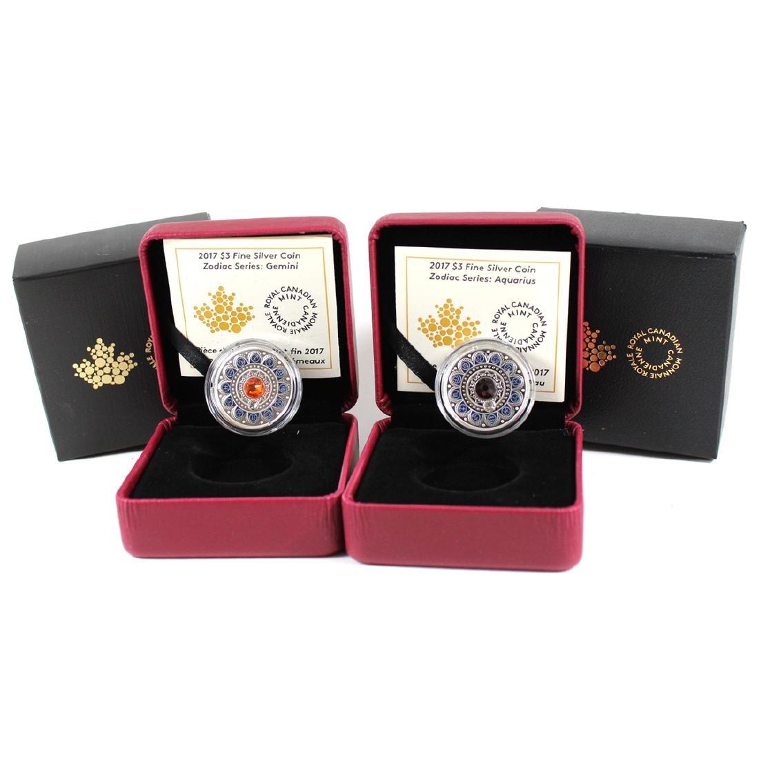 2017 Canada $3 Zodiac Series - Gemini & Aquarius Fine