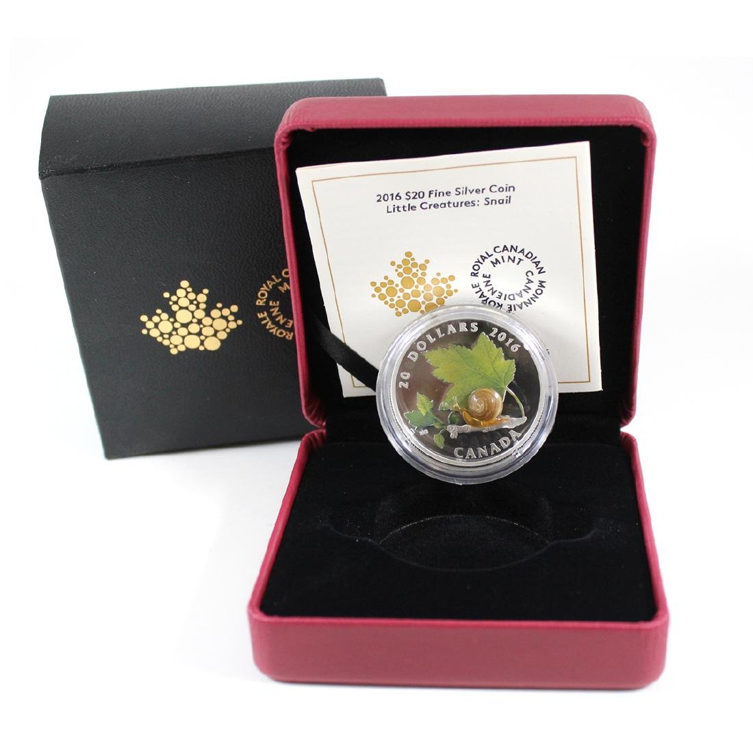 2016 Canada $20 Little Creatures - Snail With Murano