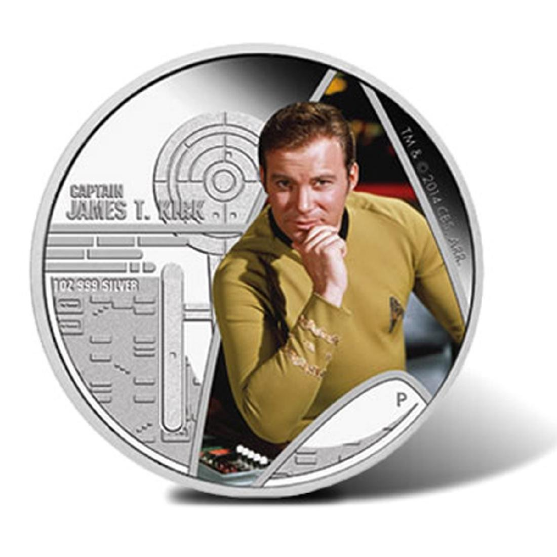 2015 Tuvalu $1 Star Trek: The Original Series Captain