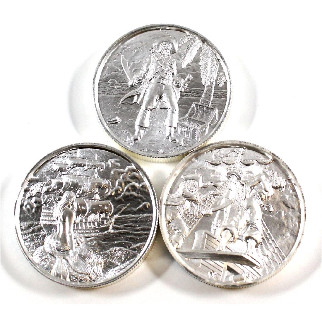 Lot of 3x Privateer Series Ultra High Relief 2oz .999