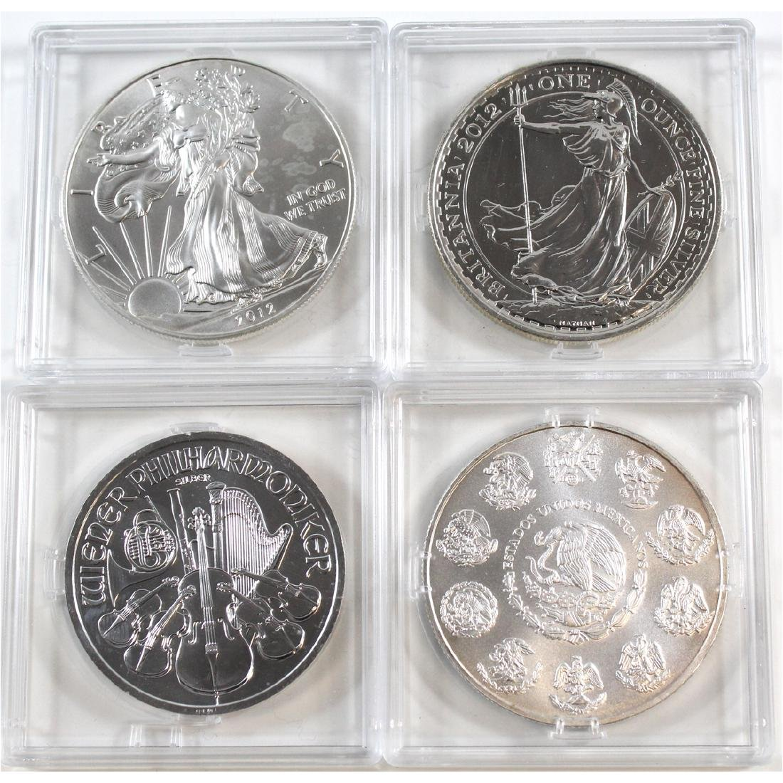 Lot of 4x 2012 1oz .999 Fine Silver Coins - Mexico