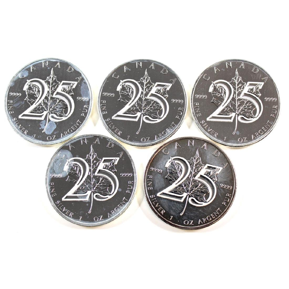 Lot of 5x 2013 Canada $5 25th Anniversary of the Maple