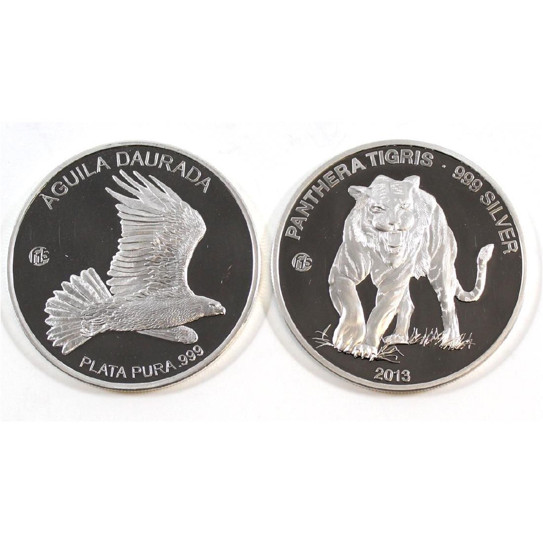 2013 Laos 'Panthera Tigris' & 2013 Andorra 'Aquila
