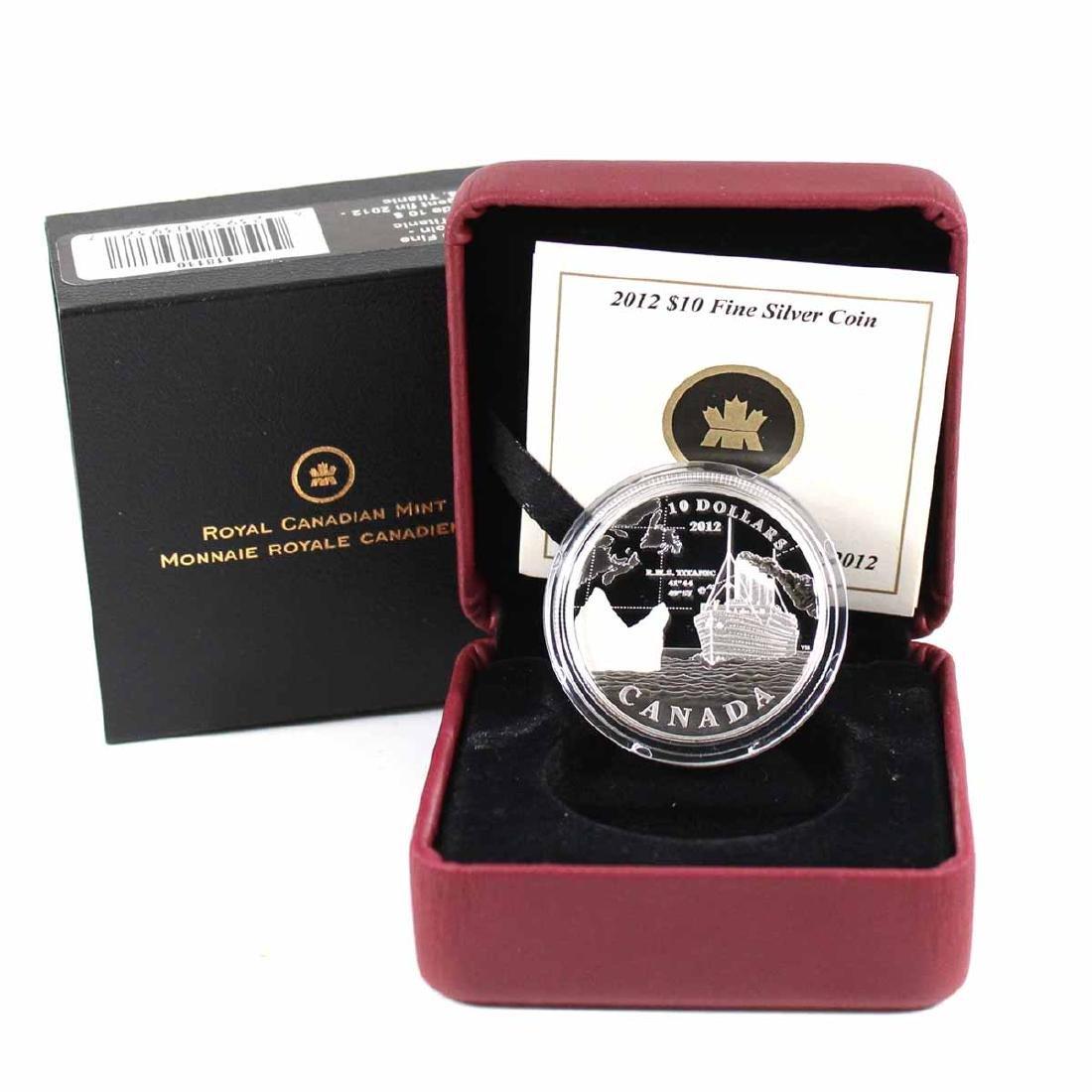 2012 Canada $10 R.M.S. Titanic Fine Silver Coin (TAX