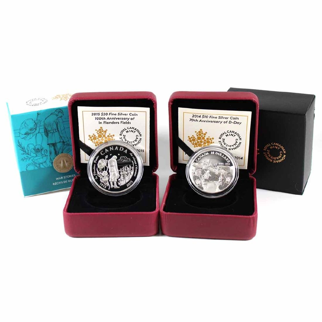 2014 Canada $10 70th Anniversary of D-Day & 2015 $20