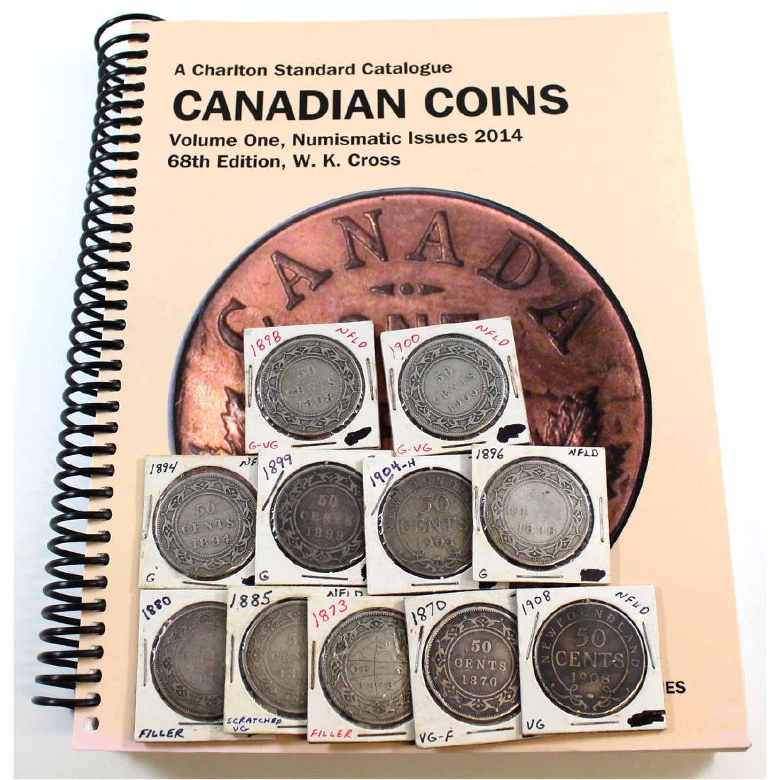 Estate Lot of 11x Newfoundland 50-cent Dated 1870,