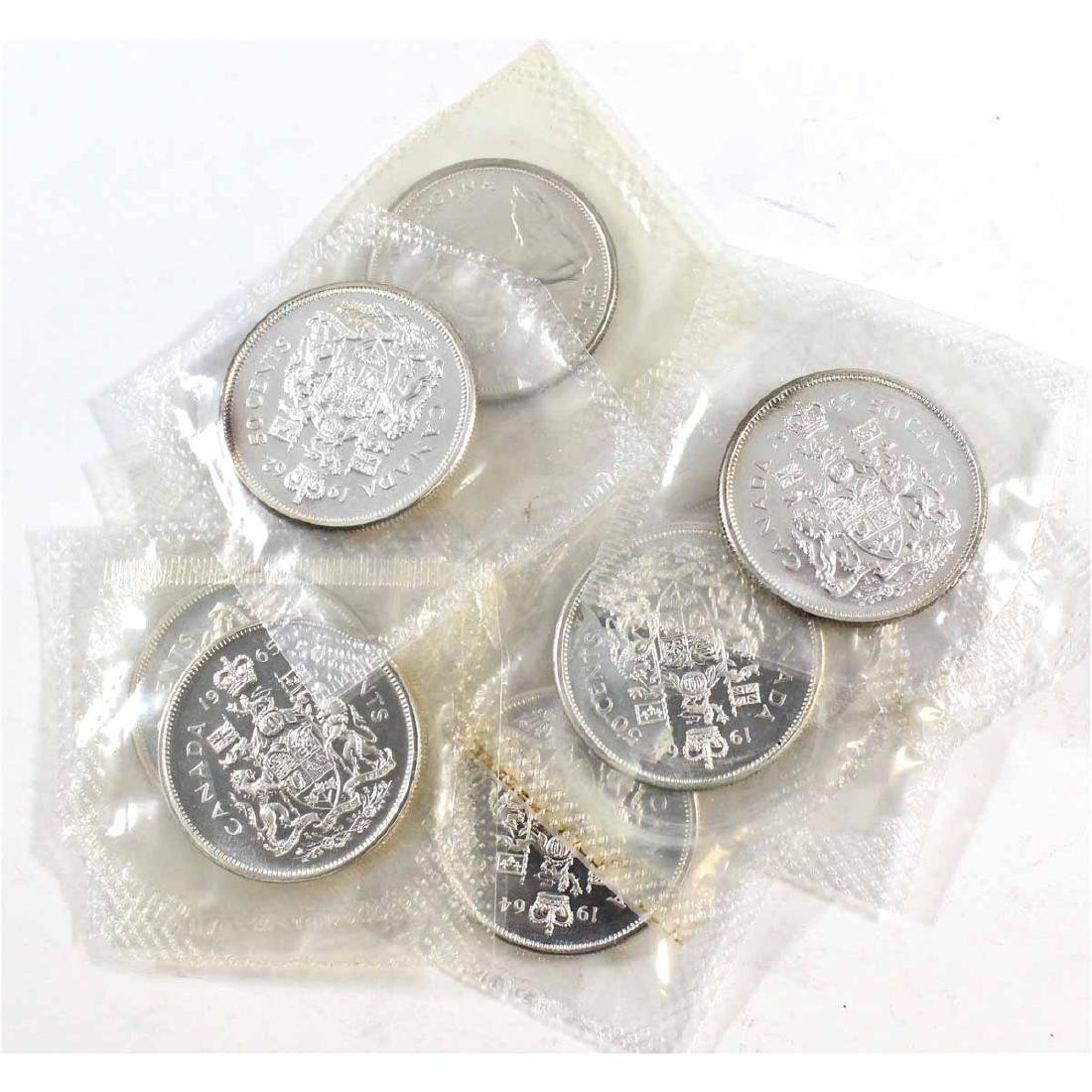 Lot of 10x Canada 50-cent Sealed in Original Pliofilm