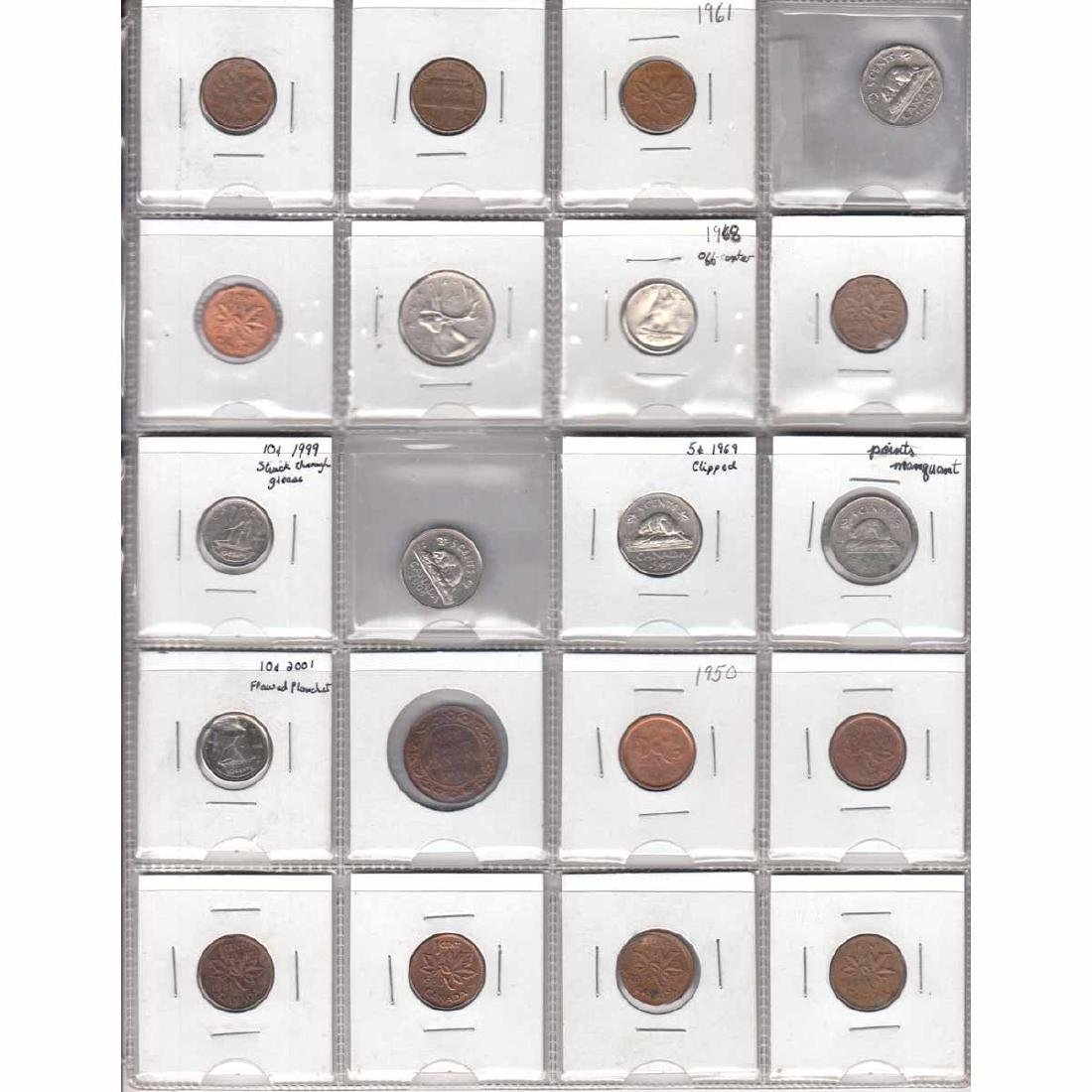 Estate Lot of 20x Canada 1-cent, 5-cent, 10-cent &