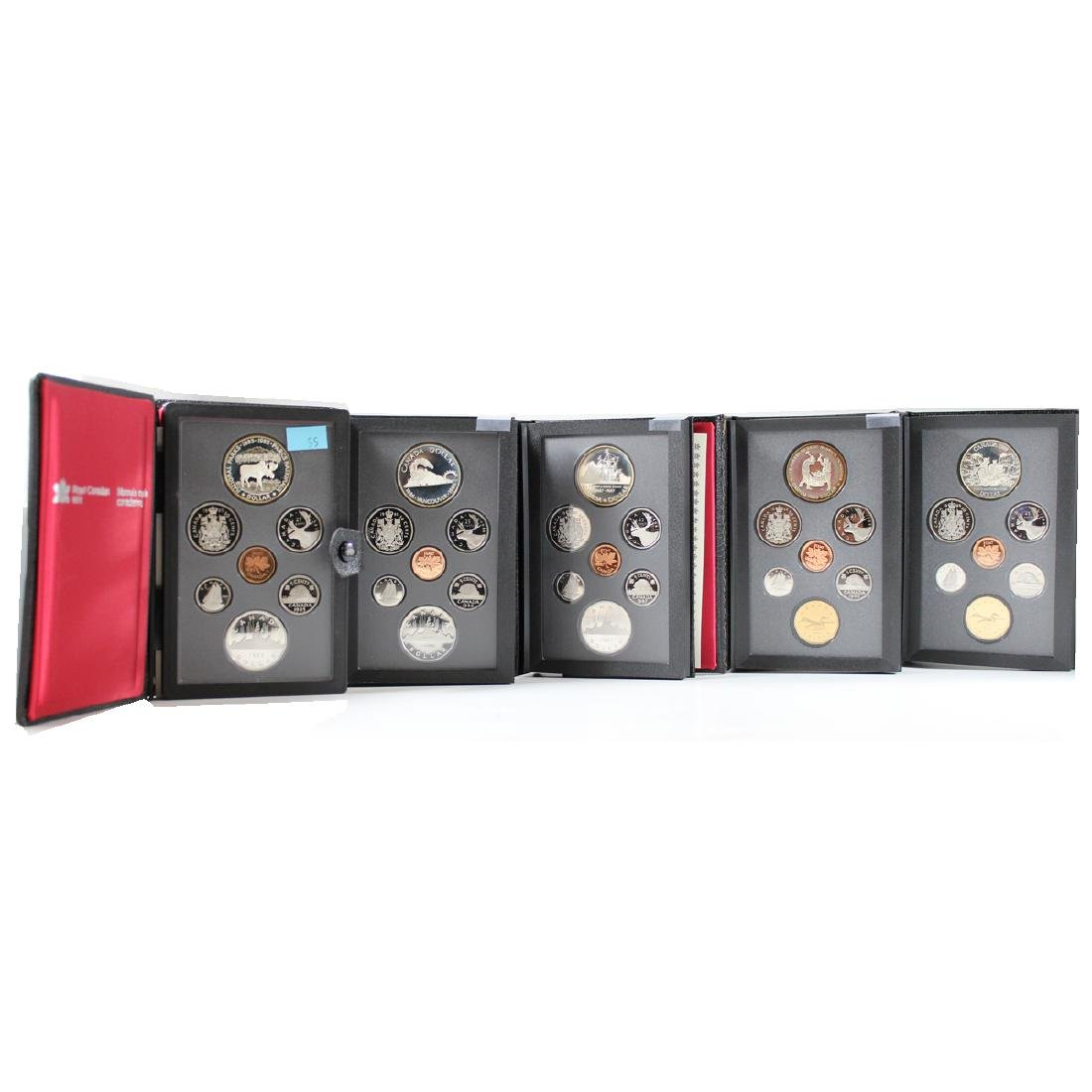 1985, 1986, 1987, 1988, 1989 Proof Double Dollar sets.
