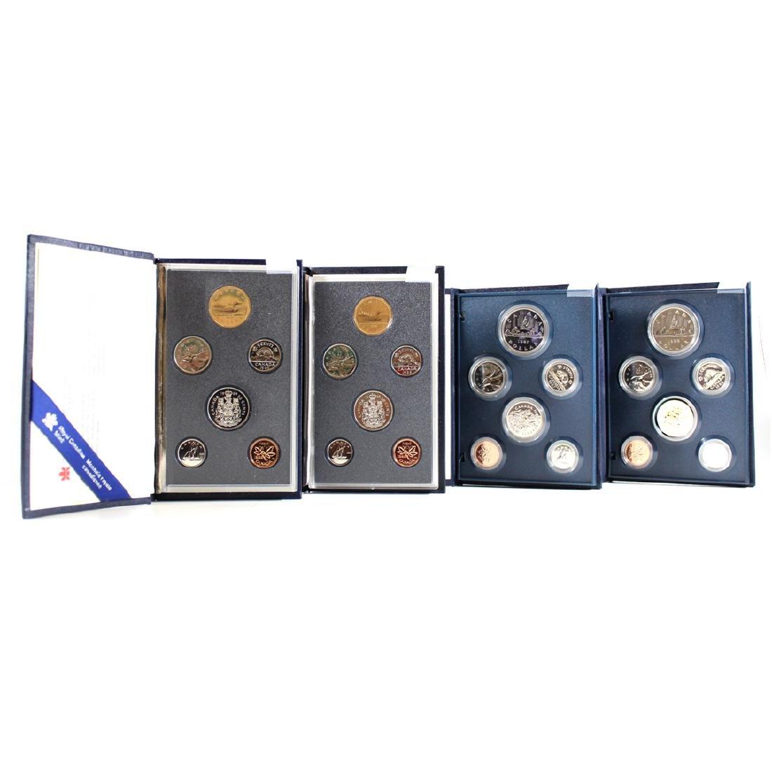 1986, 1987, 1988, 1989 Canada Specimen 6-Coin Sets.