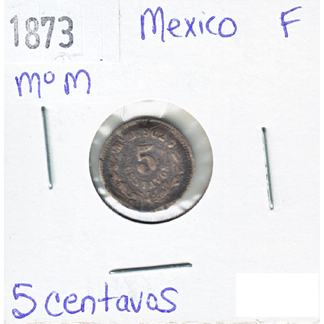 1873 Mexico 5 Centavos Fine