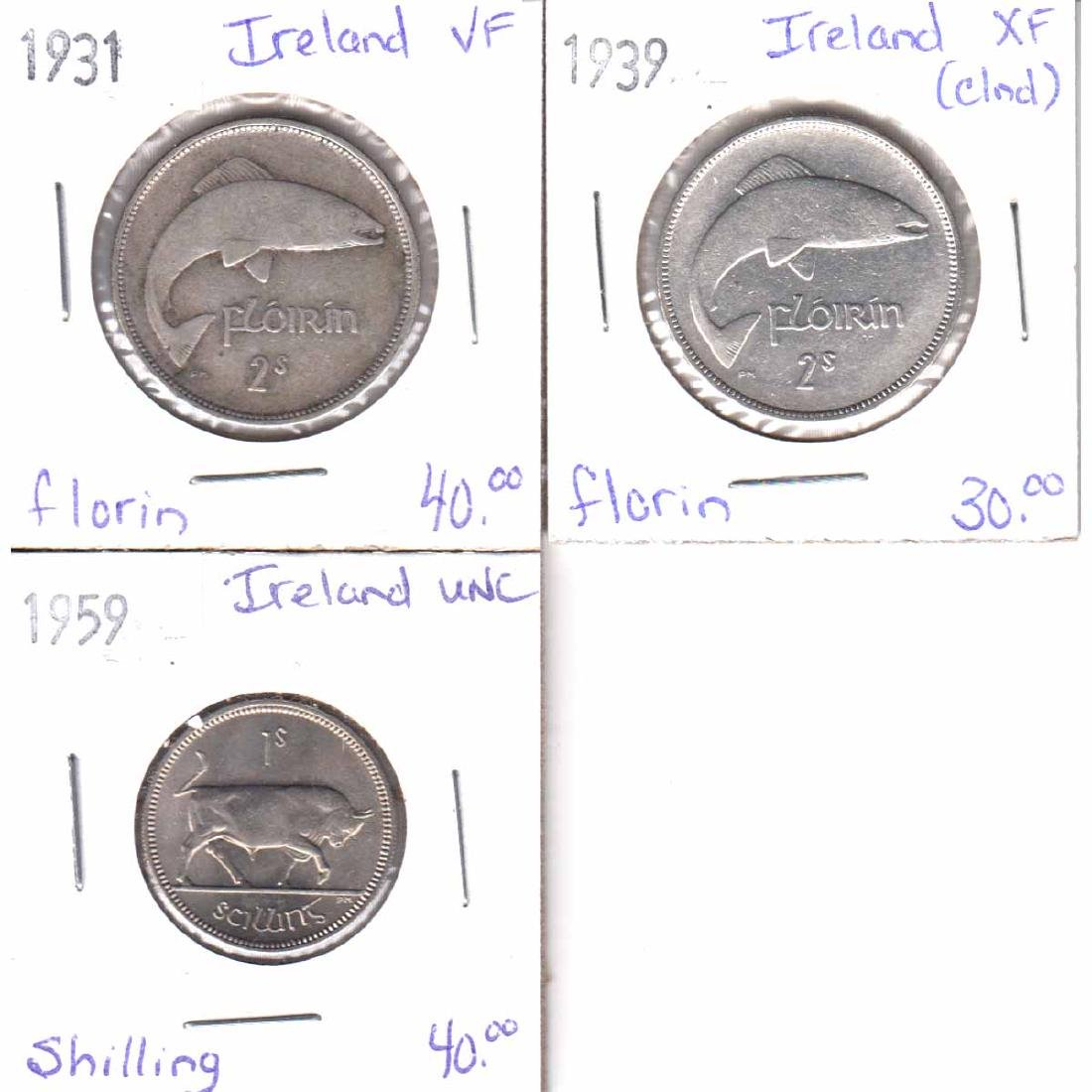 Lot of 3x Irish Coinage Dated 1931-1959 in VF to UNC.