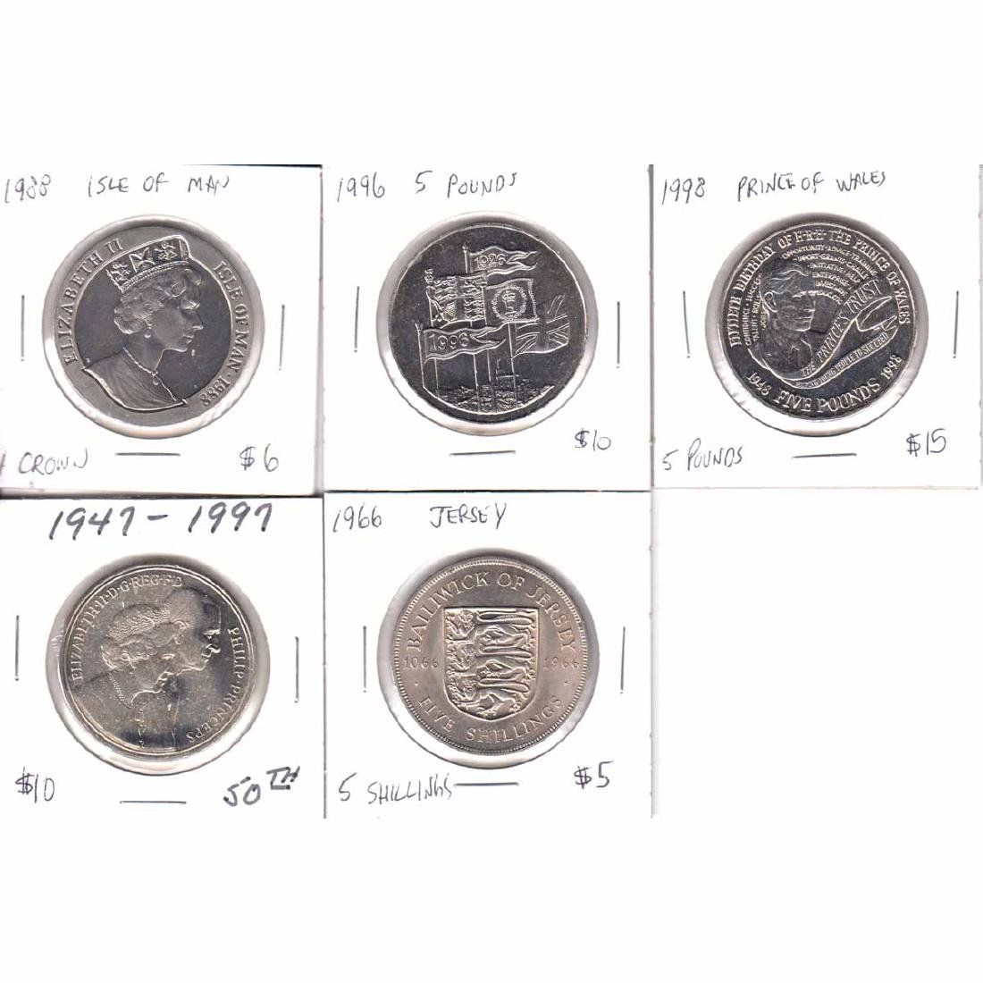 Lot of 5x Commemorative Great Britain, Isle of Man &