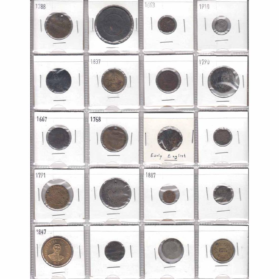 Mixed Page of 20x Old Coinage from Different Countries