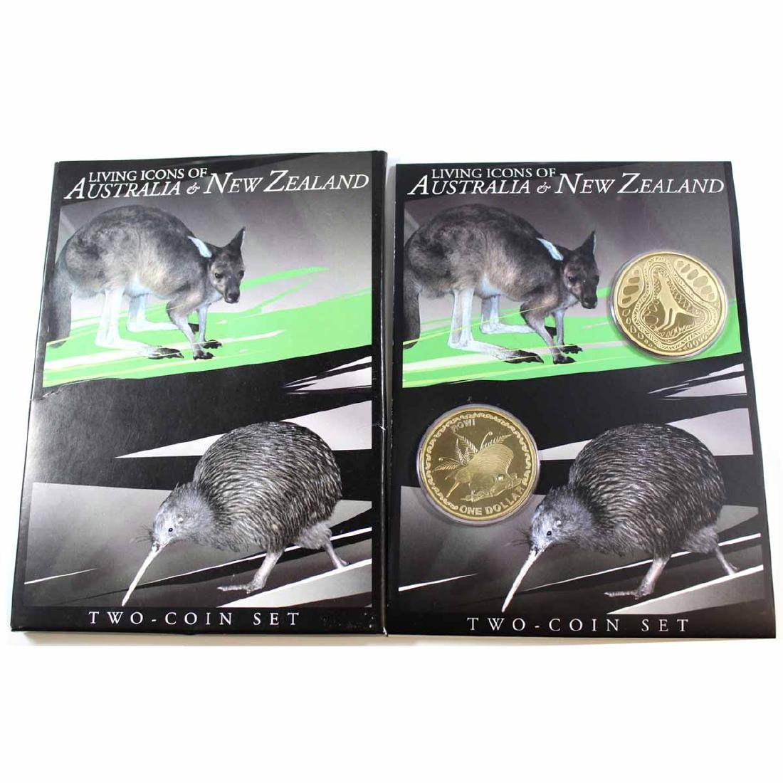 2005 Living Icons of Australia & New Zealand $1 2-Coin