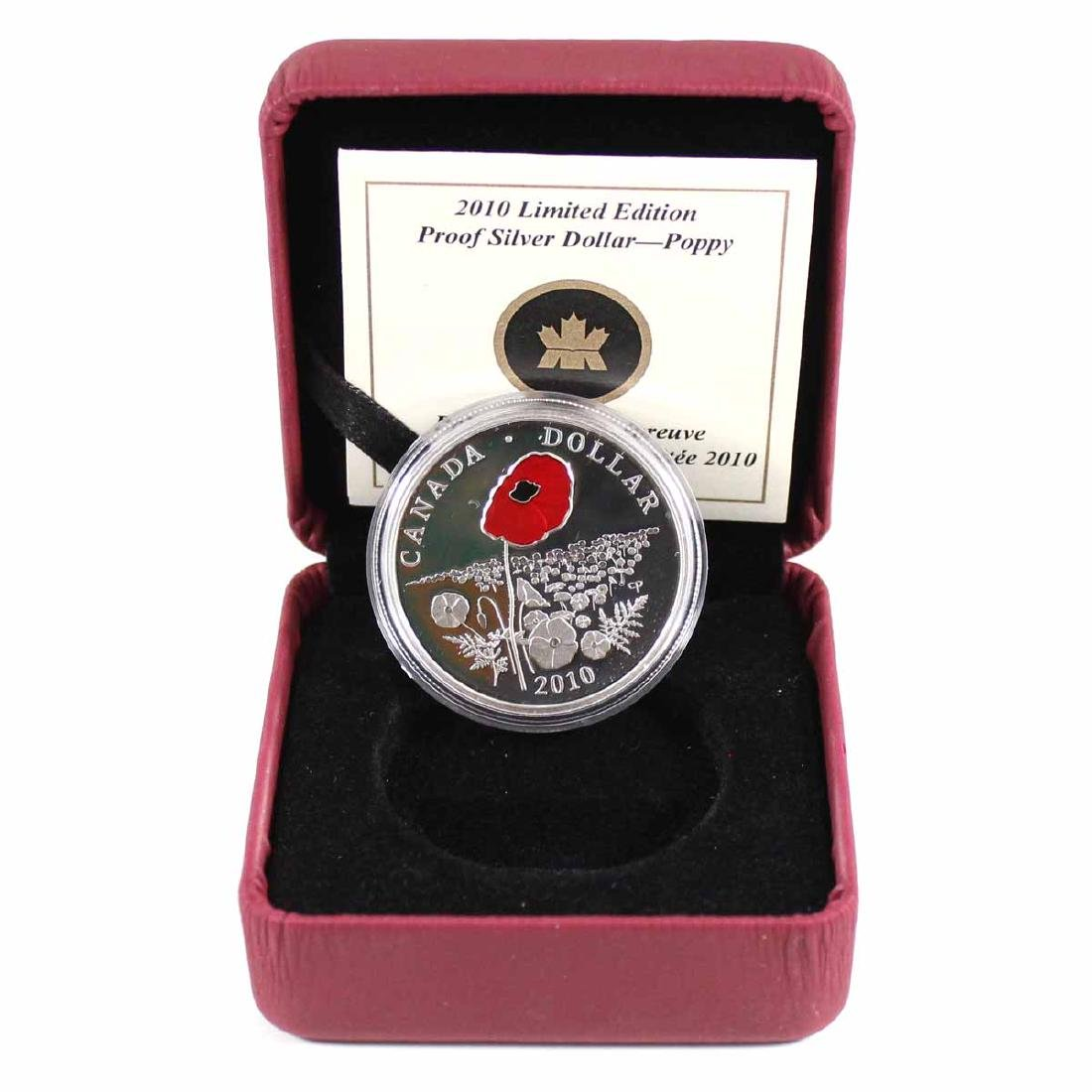 2010 Canada Limited Edition Poppy Sterling Silver Proof